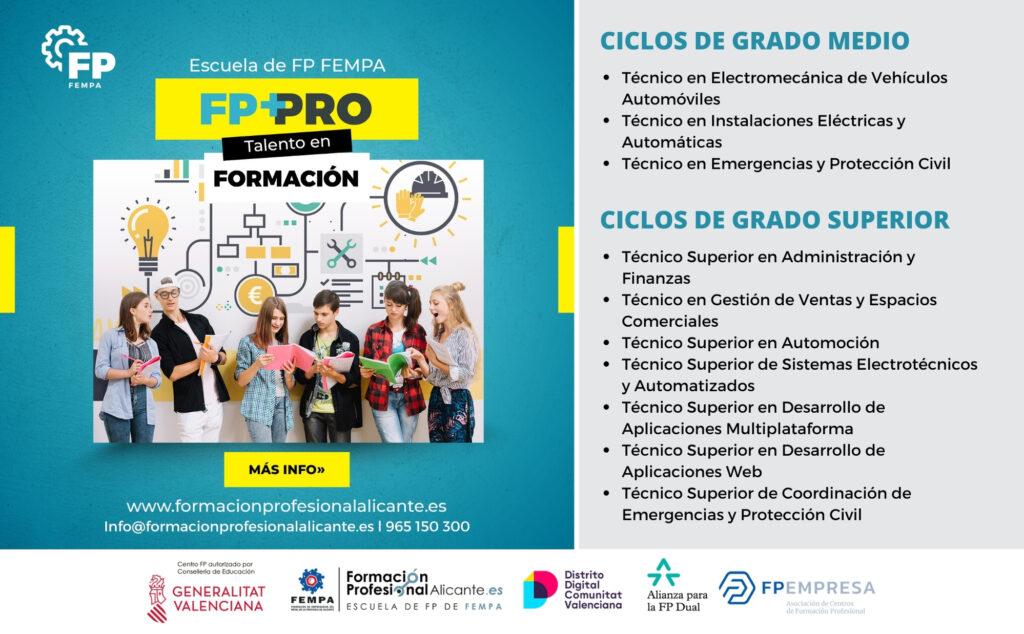 Ciclos de formación profesional en Alicante